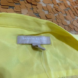 Yellow silk button down top- absolutely lovely